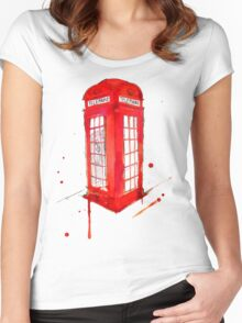 Telephone Booth Women's Fitted Scoop T-Shirt
