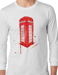 Telephone Booth 578 Long Sleeve T-Shirt