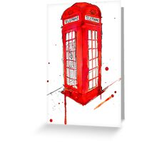 Telephone Booth 578 Greeting Card