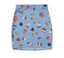 Deck Of Cards Cup Cakes blue Mini Skirt
