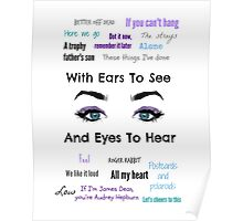 Sleeping With Ears & Eyes to See and Hear Poster