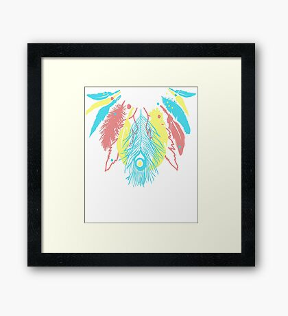 Cute Feather Necklace Graphic  Framed Print