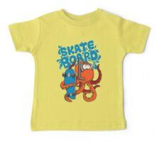 skater octopus character design Baby Tee
