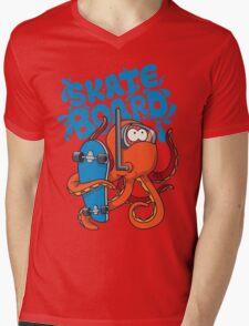 skater octopus character design Mens V-Neck T-Shirt