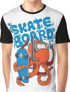 skater octopus character design Graphic T-Shirt