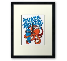 skater octopus character design Framed Print