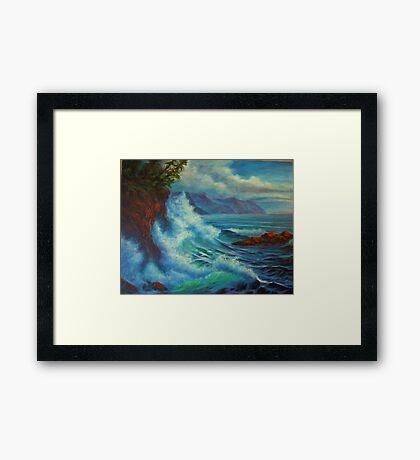 Sea Cliff Surge Framed Print