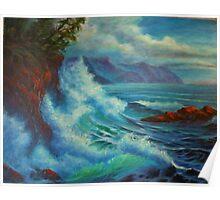 Sea Cliff Surge Poster