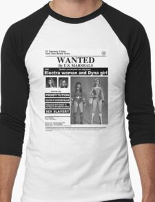 WANTED ELECTRA AND DYNA GIRL Men's Baseball ¾ T-Shirt