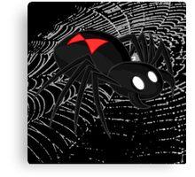 Black Widow Spider Canvas Print