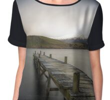 Lake Hayes Jetty Part III  Chiffon Top
