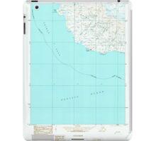 USGS TOPO Map Alaska AK Unimak B-3 360233 1989 63360 iPad Case/Skin