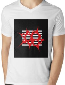 Red, black and white abstraction Mens V-Neck T-Shirt
