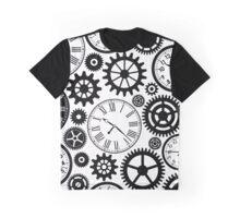 Vintage Clocks Pattern Background Graphic T-Shirt