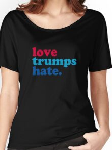 Love Trumps Hate Authentic Women's Relaxed Fit T-Shirt
