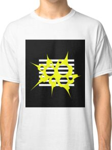 Yellow, black and white abstraction Classic T-Shirt