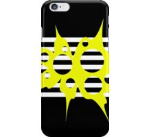 Yellow, black and white abstraction iPhone Case/Skin