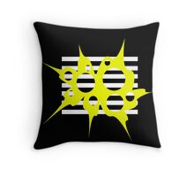 Yellow, black and white abstraction Throw Pillow