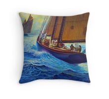 Men Of Gloucester Throw Pillow