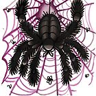 webby old school tattoo spider by resonanteye