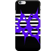 Blue, white and black abstraction iPhone Case/Skin
