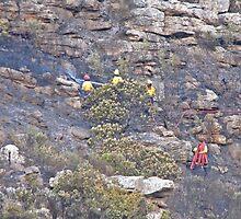 Firefighters on the Cape Peninsula by Lee Jones