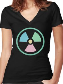 Radioactive Pastels Women's Fitted V-Neck T-Shirt