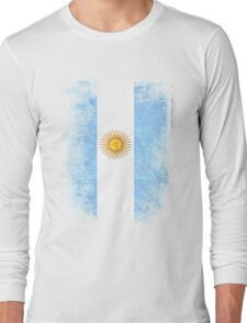 Argentina Flag Proud Argentinian Vintage Distressed Long Sleeve T-Shirt