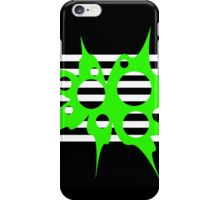 Green, black and white abstraction iPhone Case/Skin