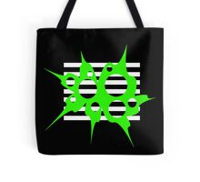 Green, black and white abstraction Tote Bag
