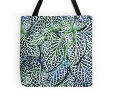 Tropical Nerve Mosaic Plant Fittonia Leaves Tote Bag