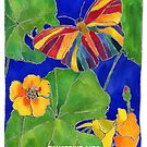 Butterfly Garden with Nasturtiums by TangerineMeg