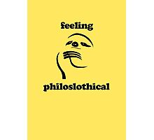 Feeling Philoslothical Photographic Print