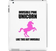 Invisible Pink Unicorn iPad Case/Skin
