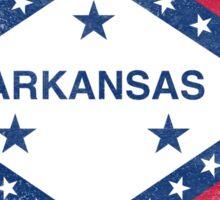 Arkansas State Flag Distressed Vintage Sticker