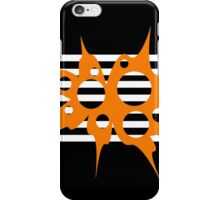 Orange, white and black abstraction iPhone Case/Skin