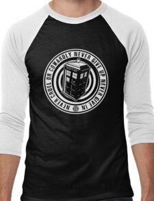 Never Cruel Or Cowardly - Doctor Who - Black TARDIS Men's Baseball ¾ T-Shirt
