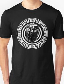 Never Cruel Or Cowardly - Doctor Who - Black TARDIS Unisex T-Shirt