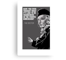William Hartnell - The First Doctor Canvas Print