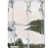 Digitally Drawn Birch Tree Landscape iPad Case/Skin