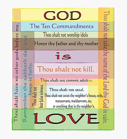 Ten Commandments Photographic Print