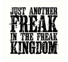 Hunter Thompson Quote Freaks Fear And Loathing In Las Vegas Art Print