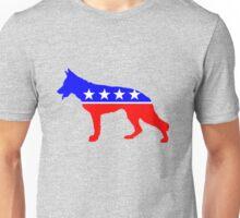 German Shepherd: RePUPlican ; DOGocrat Unisex T-Shirt