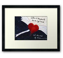Love Never Dies Framed Print