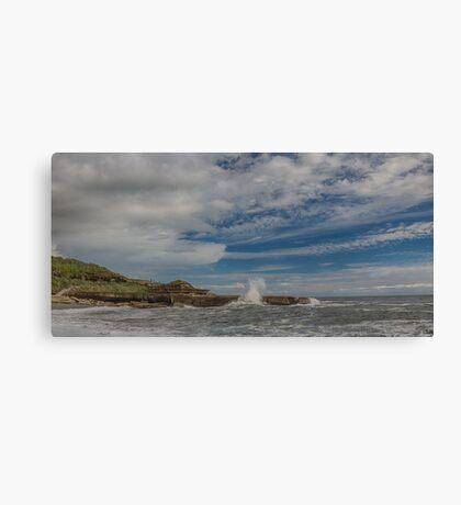 Truman Beach New Zealand Canvas Print
