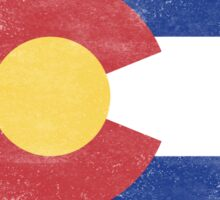 Colorado State Flag Distressed Vintage Sticker