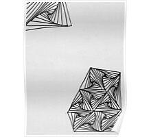 Gray pursuit curve design Poster