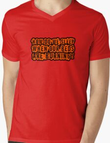 Beds Are Burning Song Lyrics Cool Political Quote Mens V-Neck T-Shirt