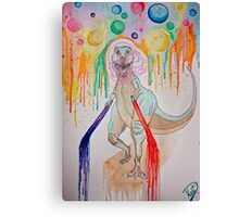 Space-rex got Lightsabers B*itches Canvas Print