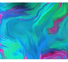 AGATE BLUE ABSTRACT OIL PAINTING Photographic Print